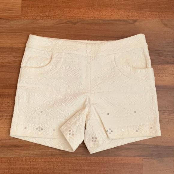 Anthropologie Pants - Anthropologie cream shorts